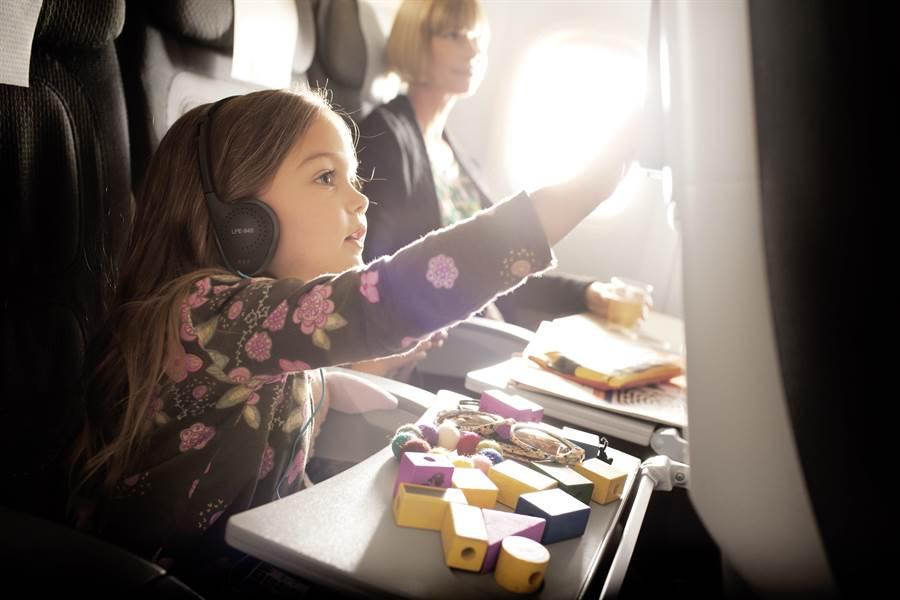 機上娛樂系統的兒童專區能滿足小朋友機上娛樂需求。圖:業者提供