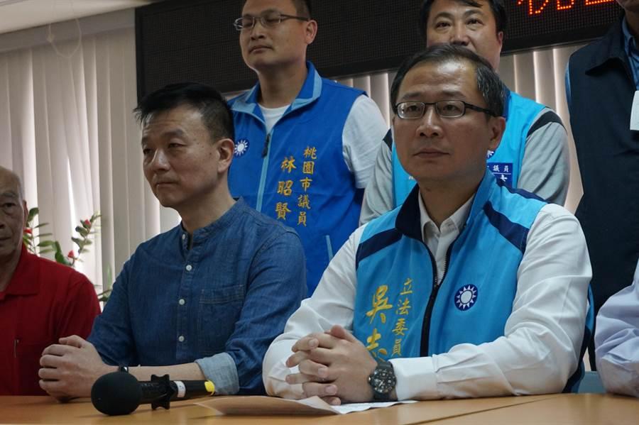 于北辰(左)對於黨希望他到不分區,坦承在臉書上發表不滿。