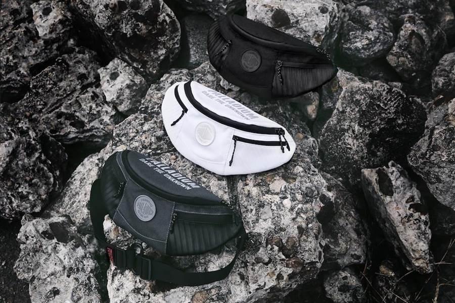 PALLADIUM時尚潮流腰包方便小物分區收納。(PALLADIUM提供)