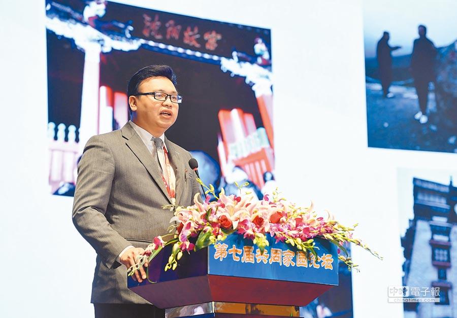2018年6月7日,台青范姜峰在海峽論壇的分論壇上,分享自己的創業經驗。(中新社)
