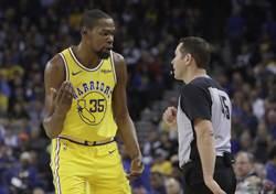 NBA》瞎了?裁判報告宣判KD爭議哨無誤