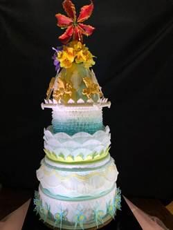 大華科大餐飲科參賽 甜蜜童年蛋糕獲銀牌