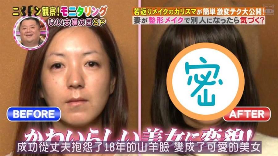 主婦整容級化妝變正妹 實測丈夫居然沒認出她(圖翻攝自/搜狐)
