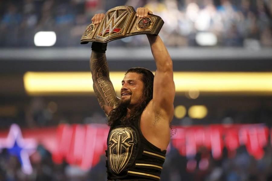 WWE摔角冠軍腰帶。(美聯社資料照)