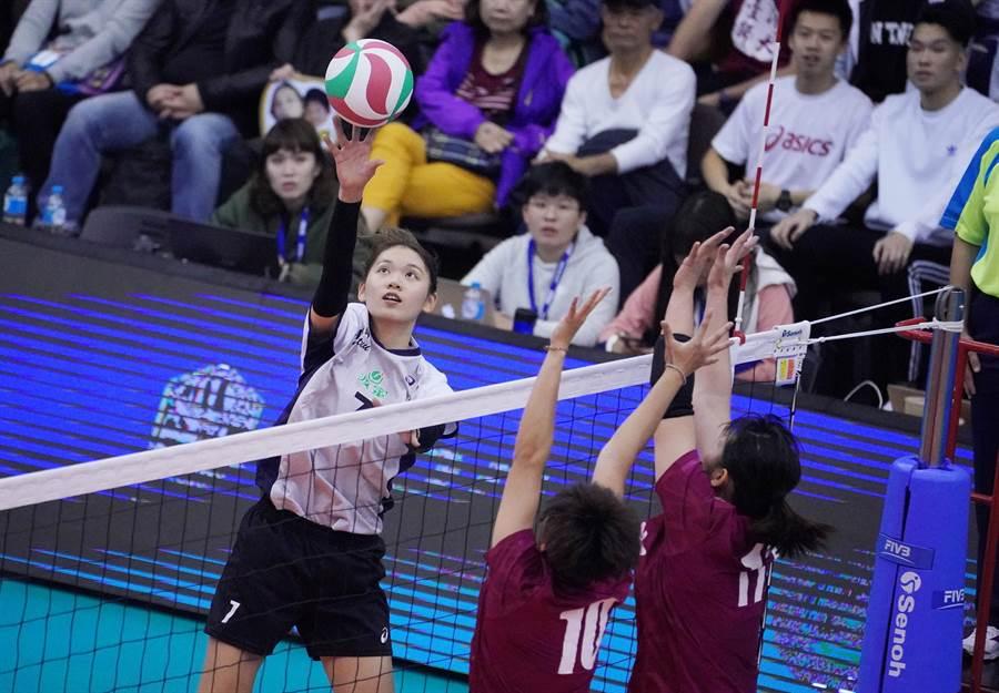 UVL女子組冠軍賽MVP台師大陳姿雅(左)。(大專體總提供)