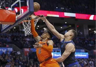 NBA》韋少第30次大三元 雷霆不敵獨行俠吞連敗