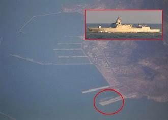 大陸055驅逐艦首度與遼寧號同框  擬參與海上閱兵
