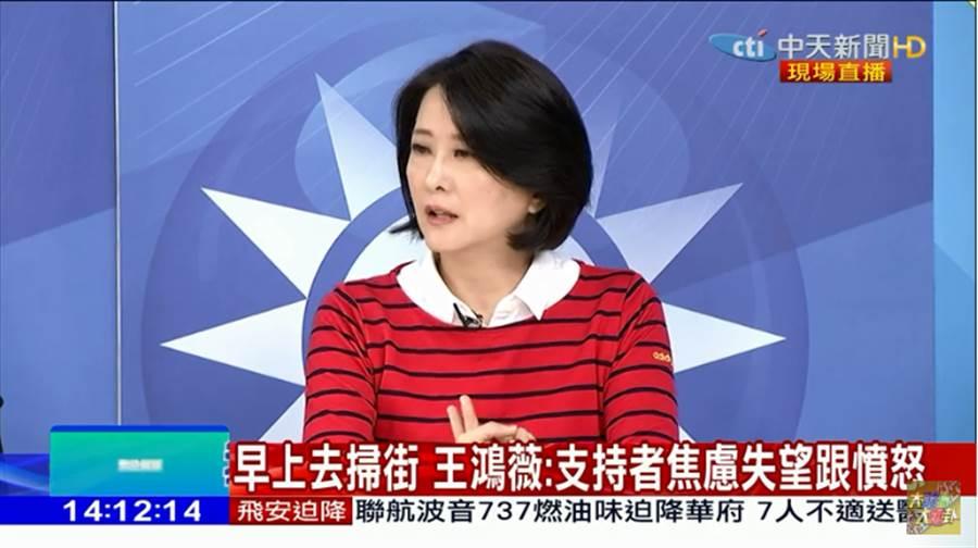 國民黨台北市議員王鴻薇。(圖片取自Youtube)