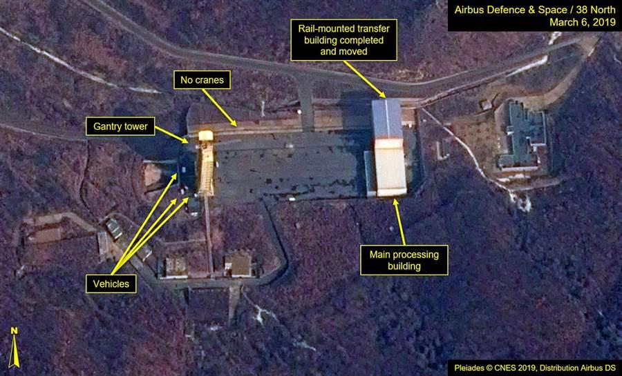由空中巴士防衛與太空及北緯38度網站所提供的北韓衛星圖片。軍事或地理衛星拍攝的照片是數十年來偵察敵對動態最重要的工具。(圖/美聯社)