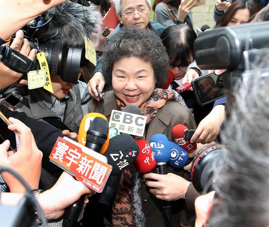 身兼總統初選五人協調小組成員的總統府秘書長陳菊。(范揚光攝)