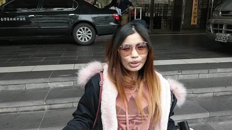 網紅辛尤里告網友陳佳君誹謗等罪,北院開辯論庭兩女針鋒相對。(王己由攝)