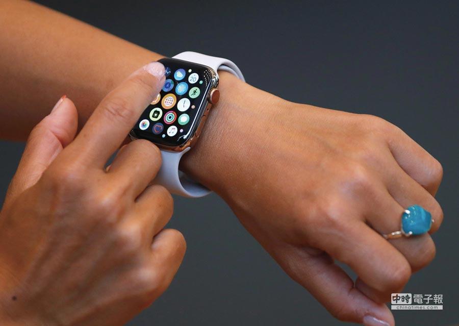 2018年智慧手錶面板出貨成長42%。圖/路透