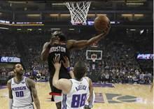 NBA》哈登7顆三分球 火箭客場轟垮國王