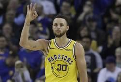 NBA》柯瑞賽前練習 三分球彈無虛發