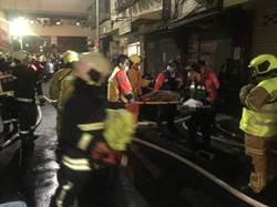北市民權東路火警  陽台救出1婦人