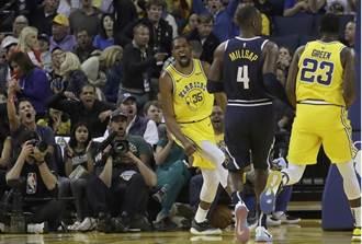 NBA》杜蘭特被趕出球場 勇士仍痛宰金塊