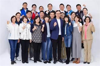 新北藍營議員力挺朱立倫選總統 掛看板、拍合照