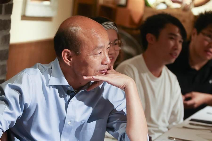 高雄市長韓國瑜(左)。(資料照片,陳信翰攝)