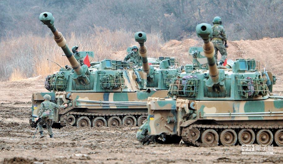 2016年韓美大規模聯合軍演。(新華社資料照片)