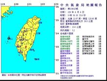 台東連3震!9:56規模5.2 最大震度4級