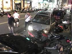 影》北市休旅車暴衝連撞7機3汽 2傷送醫