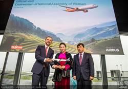 越捷航空第60架A321neo交機,越南國會主席阮氏金銀出席觀禮