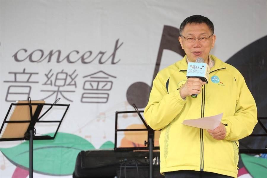 台北市長柯文哲日前批評去年台灣舉辦反核食公投,「怎麼會讓這題公投?我們是個弱智的國家!」雖然這番話引發議論,但今天他受訪時仍堅持意見,甚至「加碼」說那些公投題目都有問題。(北市府提供)