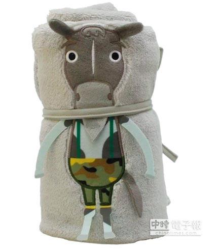吉祥物小毛毯(歐米馬)花博限定價480元。