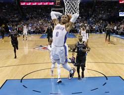 NBA》歷史第一人!韋少連3季場均大三元
