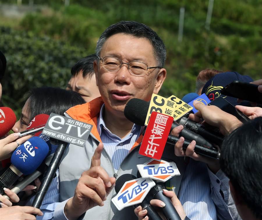 台北市長柯文哲訪美回台後,有媒體指柯文哲遭華府核心「深層政府」厭惡,認為他亂說話。柯文哲6日出席一日社區醫師活動受訪表示,這是典型假新聞。(中央社)