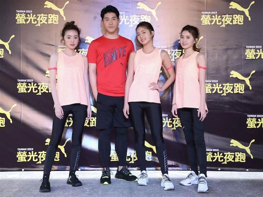 簡廷芮、簡婕、簡廷倪、吳岳擎領軍螢光偶像紅隊。