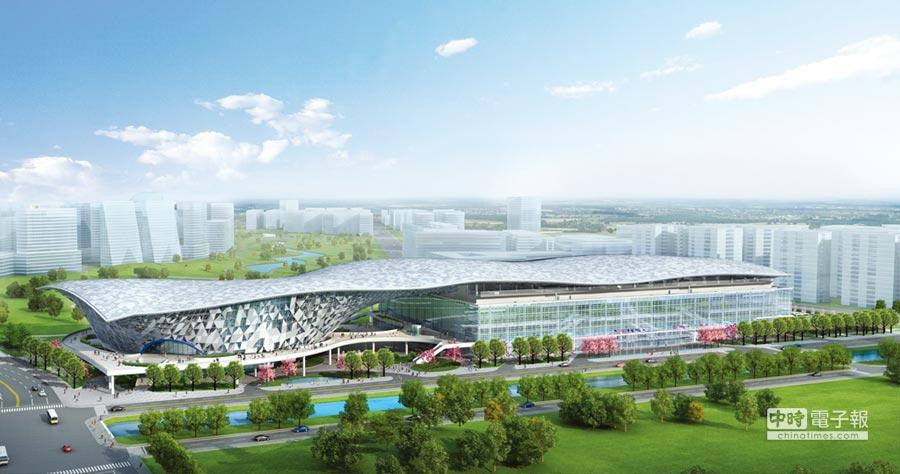 砸下58億元的水湳國際會展中心,日前終於動工,第一期預計2022年完工啟用,將可提供超過2,360攤位及可容納2,400人的大型會議空間。圖/中市府