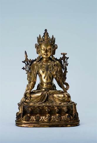 故宮等級鎏金菩薩 將在台北拍賣