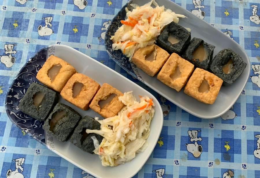 彰化二林三木臭豆腐有特色又很美味。(鐘武達攝)
