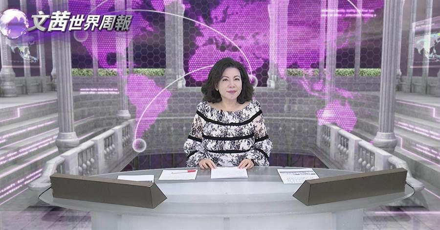 陳文茜罹癌術後第19天上工。(中天提供)