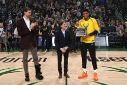 NBA》字母哥獲年度最佳歐洲球員殊榮