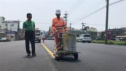 大甲工業區外圍黎明路 刨鋪完工