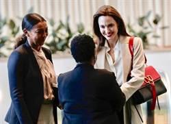 裘莉聯合國演講 背Valentino新包展現女力範