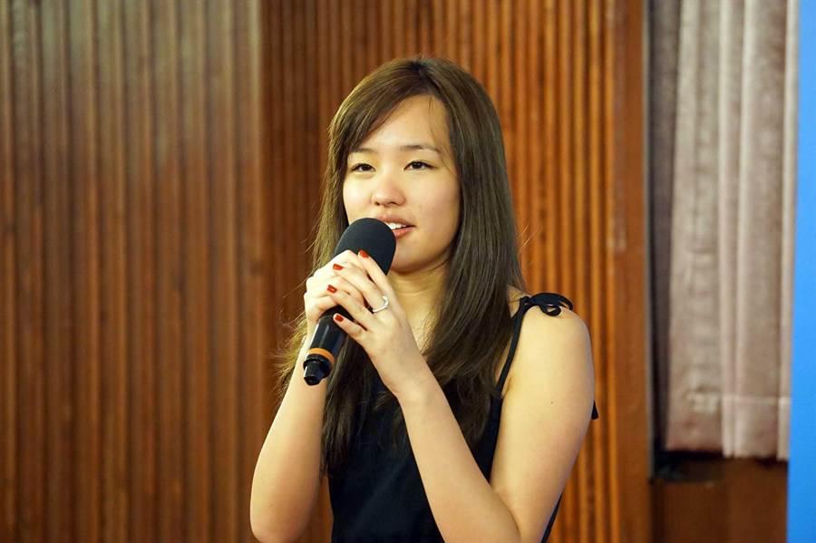 高雄市長韓國瑜女兒韓冰(見圖)英文流利,在高中時期台展現良好的外語能力。(資料照片 柯宗緯攝)