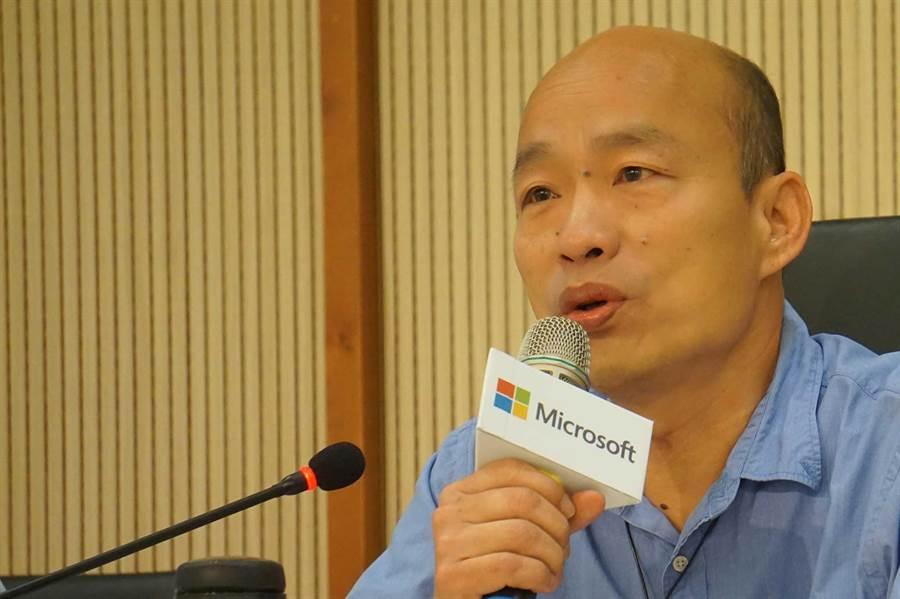 高雄市長韓國瑜。(柯宗緯攝)