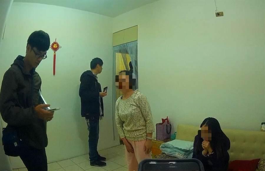 警方查獲廖姓姐妹檔從事色情交易。(王揚傑翻攝)