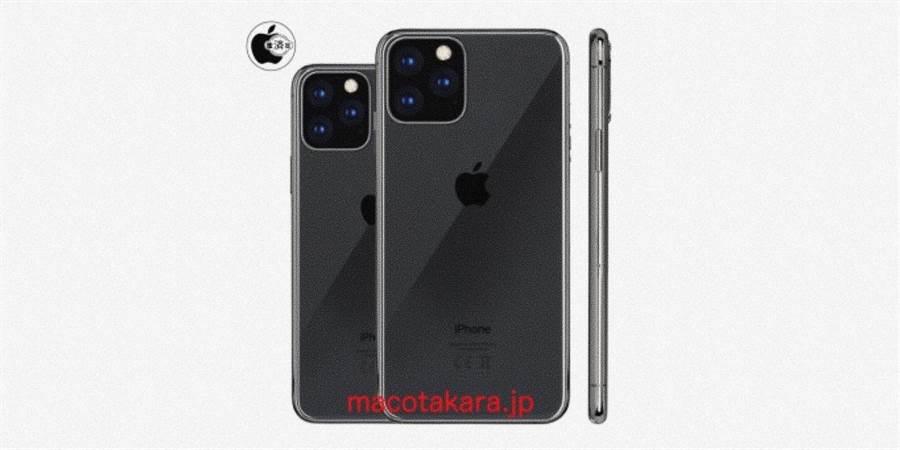 日媒指出,蘋果今年將會在兩款新 iPhone 中加入三攝方案。(圖/翻攝Mac Otakara)