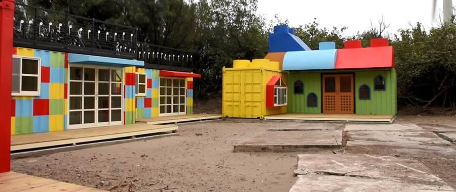 大安海濱露營區的貨櫃屋營位色彩繽紛,屆時勢必成為熱門的打卡景點。(陳淑娥攝)
