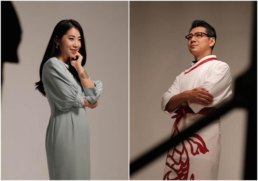 韓國實力派演員金仁馨與聶雲合作音樂劇版《飲食男女》。(天作之合劇場)