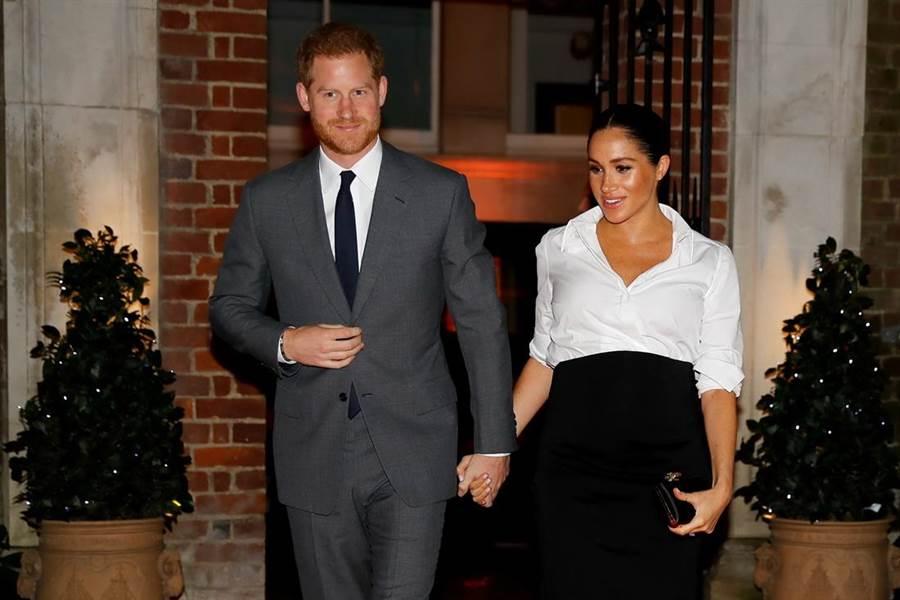 哈利王子與梅根即將迎接第一個寶寶,不過外界已在關注寶寶出生後將面臨的美國稅務問題。(圖/路透社)