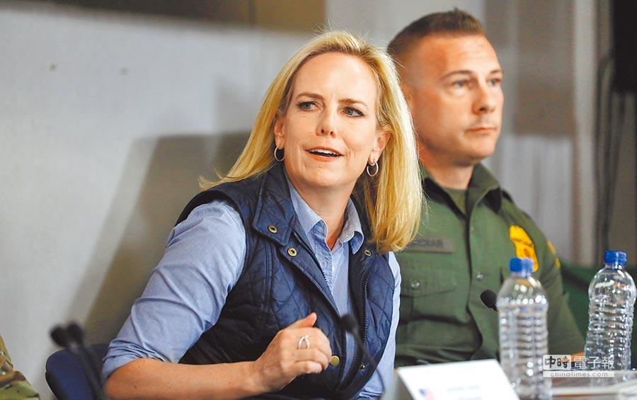 美國總統川普7日推文稱已接受國土安全部長尼爾森請辭。(Kirstjen Nielsen路透)