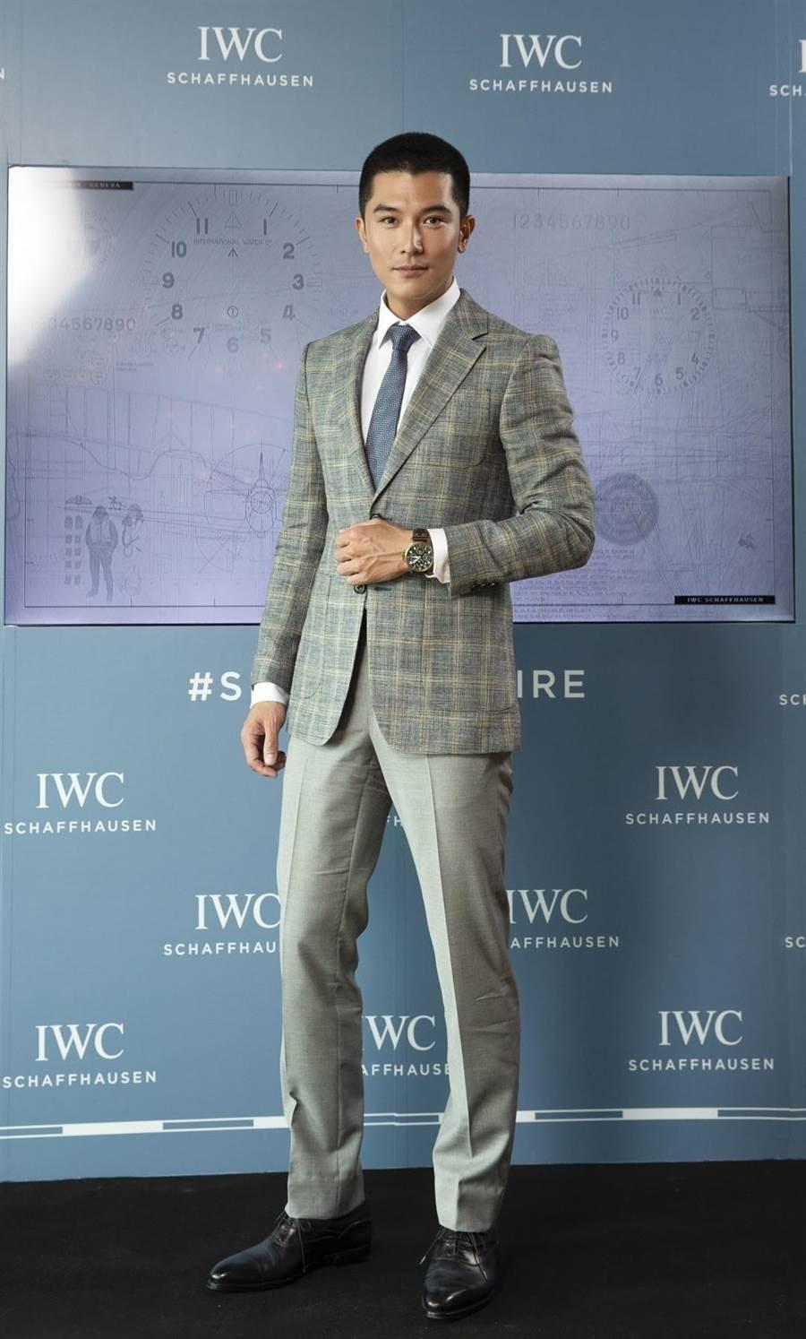 邱澤出席IWC飛行員系列新品發表會,帥氣爆棚。(IWC提供)