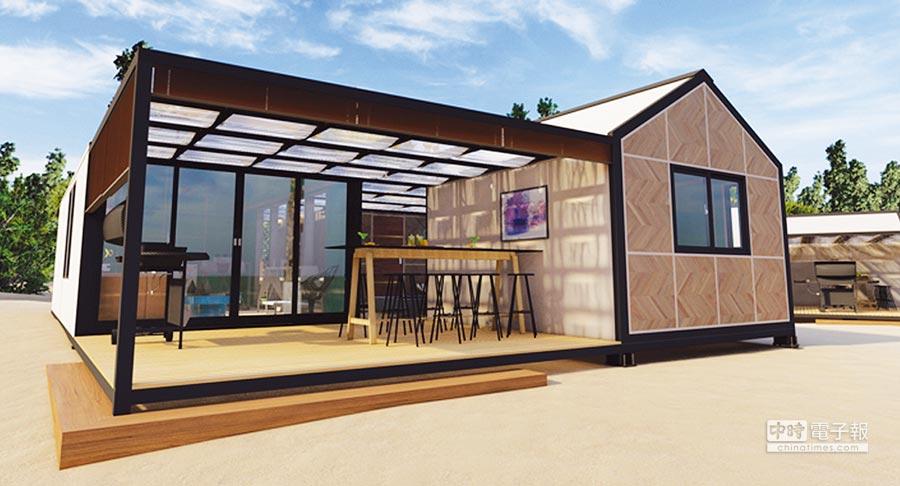 高崎便利屋提供年輕族群另一購屋選擇,時尚的裝潢設計,和一般住家舒適。圖/業者提供