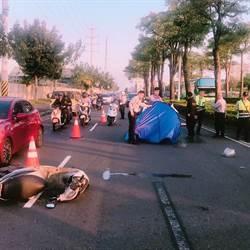 疑車速過快 騎士自撞巴士彈飛慘死