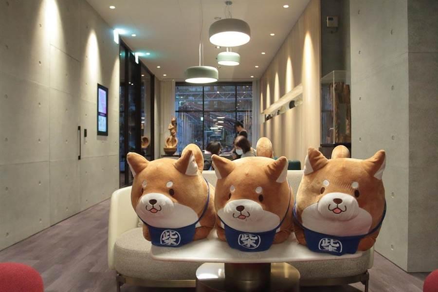 「壹壹產後護理之家」的吉祥物「柴犬」,日本家家戶戶必養寵物之一,默默的守護主人,也象徵著護理之家細心呵護每位到來的媽媽跟新生兒。(圖片來源:中時電子報提供)